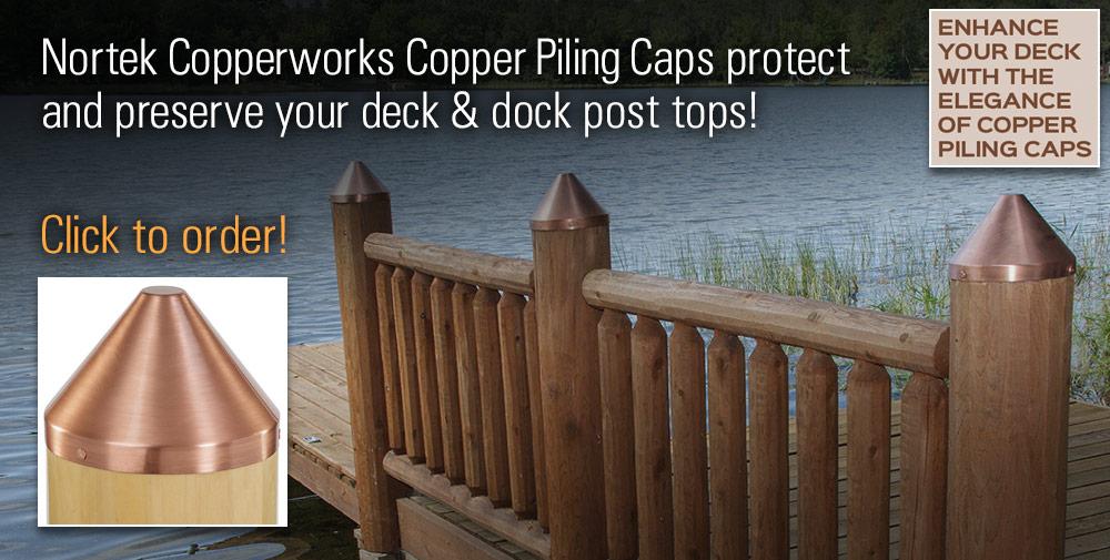 Copper Deck Post Caps, Wraps & Tops | Nortek CopperWorks
